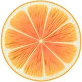 Orangensaftscheibe Stockfoto