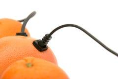 Orangenserver des lokalen Netzwerkes (LAN) Stockfotografie