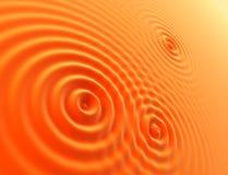 Orangenwellen Stockfotografie