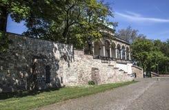 从orangerie庭院的细节布拉格宫殿的 库存照片
