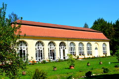 Orangerie in the Baron von Brukenthal Palace in Avrig. In Avrig there are a collection of historical monuments.Centuries XI - XVI Royalty Free Stock Image