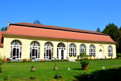 Orangerie. Park of Baron von Brukenthal Palace in Avrig, Transylvania. In Avrig there are a collection of historical monuments.Centuries XI - XVI Stock Photography