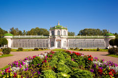 Orangerie paviljong på museum-godset Kuskovo Arkivbild