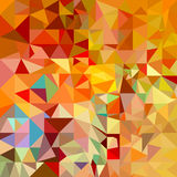 Orangeroter polygonaler Mosaikhintergrund Stockfoto