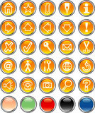 Orangeroundbuttons Royalty Free Stock Photos