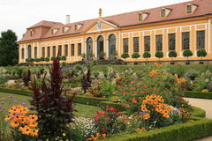 Orangery. The Baroque Garden Großsedlitz was created in 1719 and is considered one of the greatest baroque gardens in Germany. With his many avenues, shades stock images