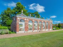 The Orangery at Burton Constable Hall, Yorkshire. The 18th century Orangery at Burton Constable Hall was designed by Thomas Atkinson and completed in 1782. The royalty free stock photography
