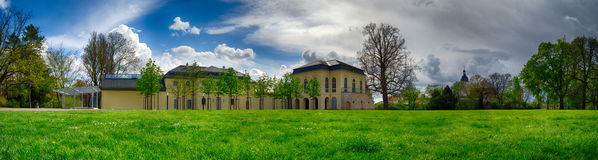 Orangery castle park Altenburg Germany. Green park Stock Photos