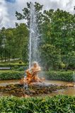 Orangery Fountain Triton, Peterhof, Russia Stock Images