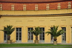 Orangery i Erlangen Arkivbild