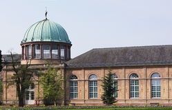 Orangery in Karlsruhe. The botanical garden with the orangery owes its existence to the love of gardening to the Margrave Karl Wilhelm of Baden-Durlach (1679 Royalty Free Stock Photography