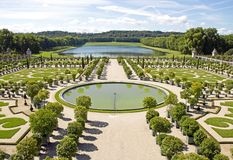 The orangery, Versailles in summer Versailles France Royalty Free Stock Photography
