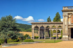 The Orangery, Witley Court, Worcestershire, England. The orangery/conservatory with what remains of its fabulous arched windows at the famous Witley Court in Stock Photos