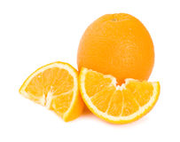 Oranges. Isolated on white background Royalty Free Stock Photos