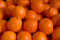 Oranges. Ripe oranges close up from a market stand Stock Photos