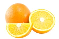 Oranges. Isolated on white background Royalty Free Stock Images