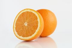 Oranges. Over white Stock Images