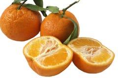 Oranges a. Oranges isolated on the white background Stock Image