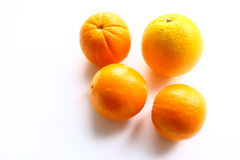 Oranges. Bright and useful fruits in the winter Royalty Free Stock Photo