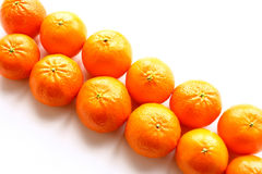 Oranges. Bright and useful fruits in the winter Royalty Free Stock Photography