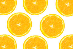 Oranges. On the white background stock photography