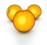 Oranges. 3d rendering of 3 oranges vector illustration