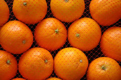Oranges. In a net bag Royalty Free Stock Photography