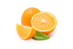 Oranges. Juicy and fresh oranges isolated on a white background royalty free stock photos