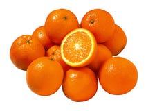 Oranges. Large Group of tasty oranges royalty free stock photography