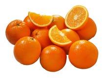 Oranges. Fresh juicy peaces of oranges royalty free stock photos