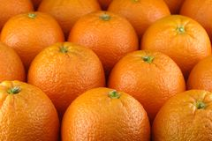 Oranges. Close up of many oranges Stock Images