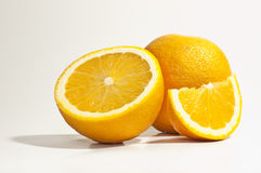 Oranges. On a white background with a clipping path Royalty Free Stock Images