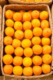 Oranges. Ripe oranges in a wattled basket Royalty Free Stock Photo