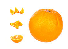 Oranges. And slices royalty free stock photo