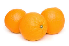 Oranges. Close up of oranges isolated on a white background Stock Images