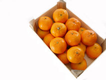 Oranges. Crate full of juicy oranges Royalty Free Stock Images