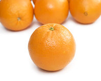 Oranges. Four oranges isolated over white background Stock Photo