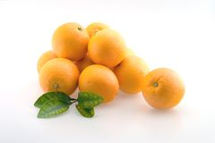 Oranges. Fresh Oranges stacked in a pile ready for eating royalty free stock photo