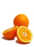 Oranges. Isolated on white background Stock Photo