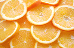 Oranges. Some pieces of fresh oranges on a plate Royalty Free Stock Photo