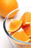 Oranges. Sliced oranges on a white background Royalty Free Stock Images