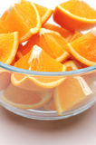 Oranges. Sliced oranges on a white background Royalty Free Stock Photos