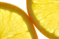 Oranges. Two Orange Slices. Closeup royalty free stock photography