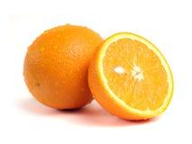 Oranges. Orange fruits on white - nice crop Stock Images