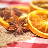 Oranges and anise Stock Photography