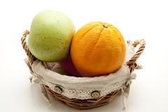 Oranges and apple Royalty Free Stock Image