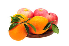 Oranges and apples Royalty Free Stock Photo