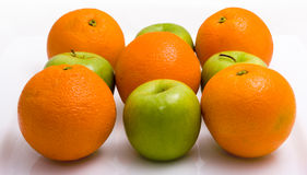 Oranges and Apples Stock Images