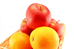 Oranges and Apples Stock Photography