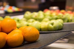 Oranges and Apples on Buffet Royalty Free Stock Image